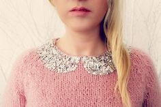 Sequined Hand Knitted Sweater