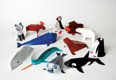 Animaux polaires - activité créative - figurines en papier à construire