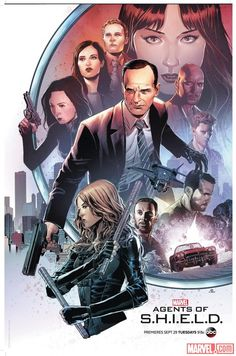 SDCC 2015: New 'Marvel's Agents of S.H.I.E.L.D.' Poster Comes to San Diego   Poster by Kris Anka