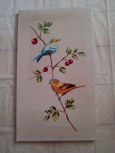 par telas pintada á mão  preço é pelo conjunto  medida 40 x 70 cm  pode colocar moldura   fundo do quadro bege claro aquarelado manchado