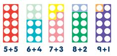 Numicon is a great resource for teaching children number bonds.