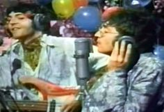 """Lennon (right) performing """"All You Need Is Love"""" with The Beatles in 1967 to 400 million viewers of Our World.  John Lennon - Wikipedia, the free encyclopedia"""