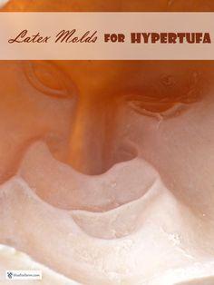 Latex Molds for Hypertufa - rubber or other flexible material works best... Hypertufa | Casting Hypertufa