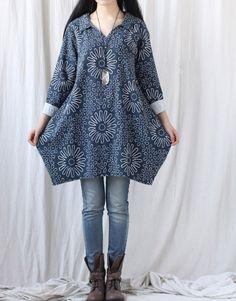 Leisure Cotton Bud Shirt dress