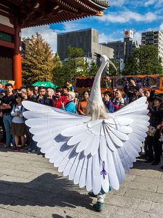 Asakusa Shirasagi no Mai 8/10 Another pose from the White Heron Dance with the dancers turning around and showing their wings in full splendor. #Asakusa, #Shirasagi, #white, #heron, #dance November 3, 2014 © Grigoris A. Miliaresis