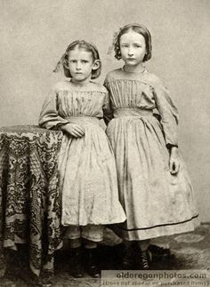 Two Girls from Albany - c. 1867