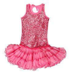 Sugar Plum Fairy Kids Boutique - Ooh La La Couture Candy Pink Sequin Wire Trim Poufier Dress, $80.00 (http://www.sugarplumfairyboca.com/ooh-la-la-couture-candy-pink-sequin-wire-trim-poufier-dress/)