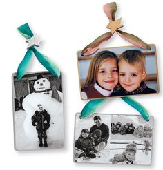 Turn this year's holiday card into an ornament for next year's tree! Great way to remember the family holiday cards over the years!      Custom Nostalgic Photo Ornament - Gifts - Photo Products - Exposures Online