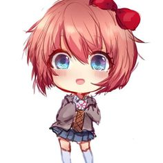 Aww sayori looks so cute here ❤