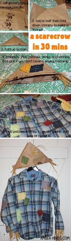 A Scarecrow in 30 Minutes or Less: quick & easy Halloween costume