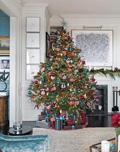 Love the moldings/doorway/small bookshelf hidden behind the tree.