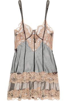Lace and Tulle Chemise by Jean Paul Gaultier for La Perla