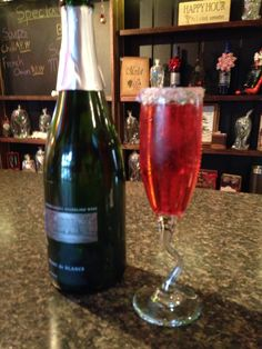 Kiss me Santa mimosa. Folks are loving it! Stop in and ask for a kiss me Santa.