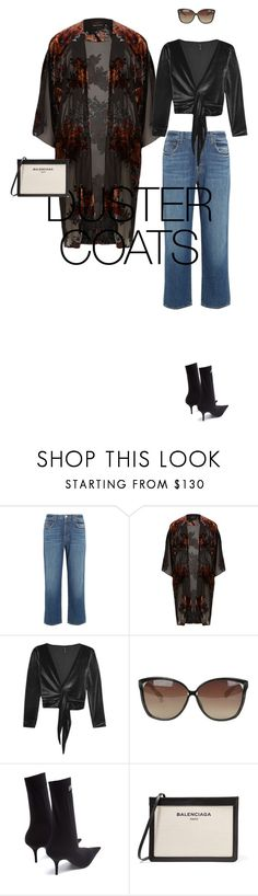 """""""Untitled #888"""" by diaval ❤ liked on Polyvore featuring J Brand, River Island, Lisa Marie Fernandez, Linda Farrow and Balenciaga"""
