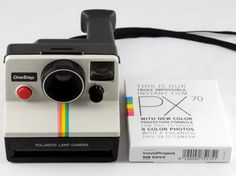 Polaroid One Step White Rainbow Stripe Instant Land Camera Tested & Working with Impossible Project PX 70 Color Protection Film Vintage Polaroid Camera, Vintage Cameras, One Step Polaroid Camera, Sx 70 Film, Camera Test, Impossible Project, Instant Film Camera, Polaroid Pictures, Polaroids