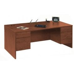 Managerial Desk - 3/4 Pedestal. Renovating, redecorating or updating your workspace? Hertz Furniture offers a variety of office furniture pieces that will fit your needs and budget. http://www.hertzfurniture.com/office-furniture.html