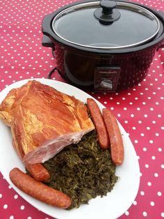 Grünkohl Rezept Crockpot Fleisch Grünkohl Wurst