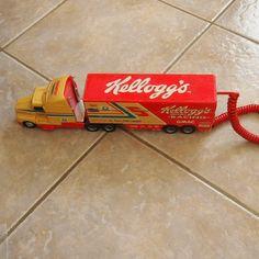 Rare Vintage Kelloggs Truck Novelty Telephone Touchtone Landline