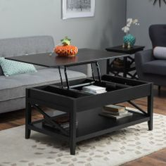 $350 Belham Living Hampton Lift Top Coffee Table - Black - Coffee Tables at Hayneedle