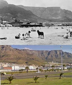 Woodstock beach then and now