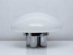 'Magnolia' Lamp | Sergio Mazza, Giuliana Gramigna | Quattrifolio | Glass, Polished Chrome | 1971