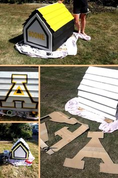 simple-diy-dog-house-project 21 Awesome DIY Dog Houses With Free Step-by-Step Plans Cool Diy Projects, Home Projects, Projects To Try, Simple Diy, Easy Diy, Picnic Blanket, Outdoor Blanket, Dog House Plans, Dog Things