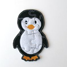 Kids Felt Puzzle - Penguin - Toddler Shape Puzzle - Kids Educational Toy…
