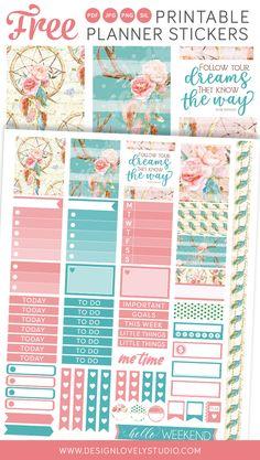 Erin Condren Life Planner FREE printable planner stickers