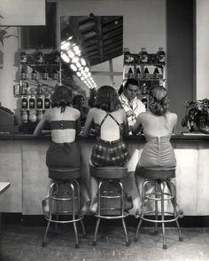Vintage Soda Fountain, Atlantic City (1948).   Photo: Nina Leen