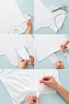 10 Ways to Cut Up + Restyle a Plain White T-Shirt via Brit + Co