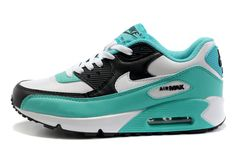 new style 14fe8 83eab Nike Air Max 90 Womens Running Shoes Light Green Black White Nike Air Max,  Boutique