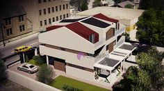 Case cuplate ''in oglinda''- Vedere aeriana  Duplex single-family homes- Aerial view  Etichete: proiecte case, proiecte vile, proiecte case complexe, proiecte case cu etaj, proiecte case cu mansarda, case moderne Home Fashion, Vile, Mansions, House Styles, Interior, Model, Attic, Houses, Home Decor