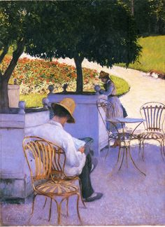 Les Orangers (The Orange Trees), 1878. Gustave Caillebotte (French, Impressionism, 1848-1894). Oil on canvas. Museum of Fine Arts, Houston.