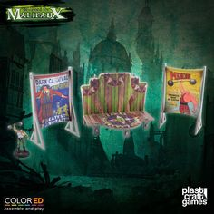 Plast Craft ColorED Malifaux Terrain Circus Stage