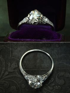 Vintage 1920's Art Deco engagement ring.
