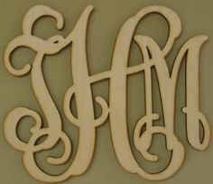 Southern Proper Monograms $18 for unfinished wood... paint any color!! Pinning now to remind me to check this out later!
