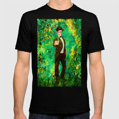 11th Doctor abstract art T-shirt @pointsalestore @society6thresecond  #tshirt #clothing #Painting #Digital #Oil #Acrylic #Streetart #Abstract #Tardis #Doctorwho #Doctor #who #Mattsmith #11thdoctor #Scifi #Vangogh #Starrynight #Dalek #Cyberman #Geek #Whovian #Green #Fullcolor #Fanart