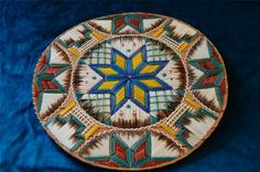 inches in diametre. Made by Ingrid Brooks. Native American Animals, Native American Baskets, Native American Crafts, Native American Beadwork, Native American Fashion, Birch Bark Baskets, Crochet Earrings Pattern, Birches, Nativity Crafts