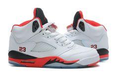 nike air jordan 5 v fire red aj5 mens basketball shoes