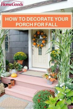 Helpful Tips To Help You Decorate Your Home Autumn Decorating, Porch Decorating, Decorating Ideas, Decor Ideas, Front Door Decor, Autumn Home, Decoration, Seasonal Decor, Home And Garden
