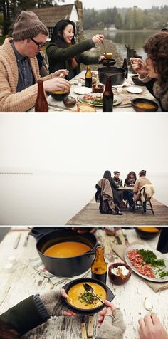 dining out of doors with friends kinfolk-magazine