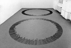 Richard Long Circle of Time Sticks and Circle of Memory Sticks Konrad Fischer Galerie, Düsseldorf, 1995.