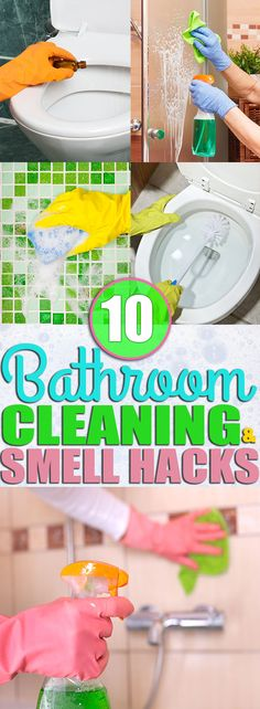 If you're looking for ways to clean your, toilet, shower, and everything else in your bathroom then you need to check out these bathroom cleaning tips. I learned how to clean my bathroom and make my bathroom smell AMAZING from the cleaning hacks and smell