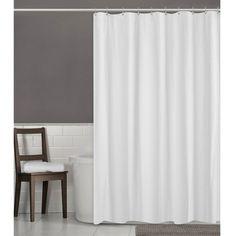 Herringbone Ultimate Shower Liner White Maytex Fabric Shower