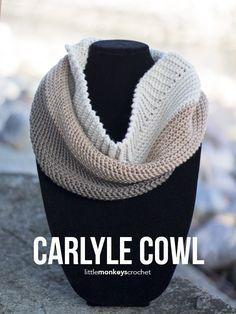 Carlyle Cowl Crochet Pattern     Free cowl crochet pattern by Little Monkeys…