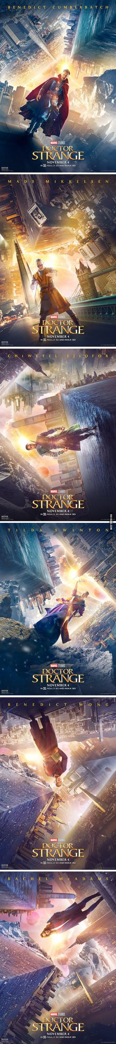 Doctor Strange character posters! Who's excited for this movie? - 9GAG