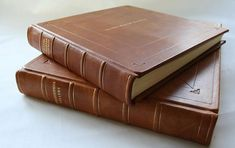 12 x 12 Luxury leather photo album in antiqued by BlackCatBindery