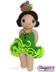 Brazilian Girly Doll by Hand Made Awards-Free Craft Patterns