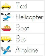 preschool activities, transport preschool, transportation theme, preschool printables, transportation unit