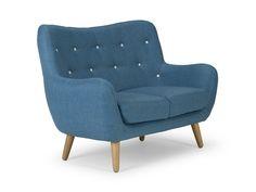 Retro-Sofa-Frenco-2-Sitzer-blau